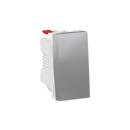Выключатель одноклавишный Schneider Electric NU310130, 10А 1М (алюминий) - 1
