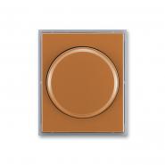 Центральная пластина поворотного диммера  карамель