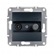 Розетка TV-SAT концевая антрацит Asfora