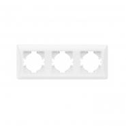 Рамка х3 горизонтальная белая  VIDEX BINERA