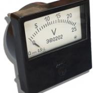 Вольтметр ЭВ 0202 0-25В пост ток 60х60 Украина