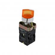 кнопка желтая поворотная 2 поз.с подсветкой XB2-BK2565 АСКО-УКРЕМ