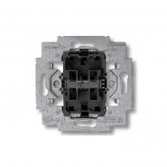 Механизм выключателя двухклавишного проходного с винтовыми зажимами