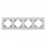 Рамка на 4 места горизонтальная VIDEX Binera Серебристый алюминий (VF-BNFRA4H-SL)