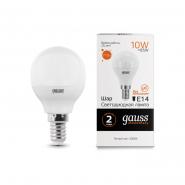 Лампа Gauss LED Elementary Шар 10W E14 710lm 3000K
