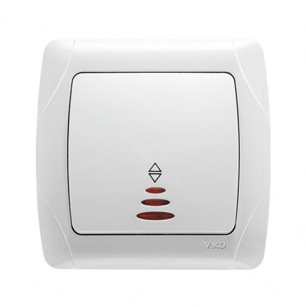 Выключатель 1-кл проходной с подсветкой белый VIKO Серия CARMEN - 1