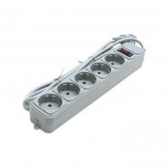 Сетевой фильтр   5гнезд 3м серый Gembird