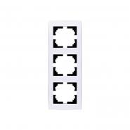 Рамка 3-я вертикальная с боковой вставкой Lezard серия RAIN