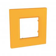 Рамка 1-местная Cytrus UNIKA QUADRO желтый