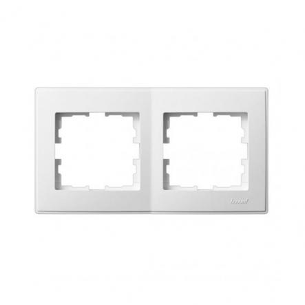 Рамка двухместная Lezard Lesya горизонтальная белый 705-0200-147 - 1
