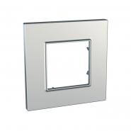 Рамка 1-местная серебро UNIKA QUADRO