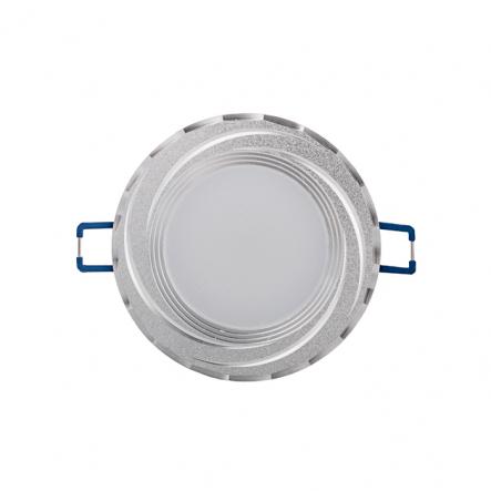 Светильник светодиодный Feron 5W серебро круг 400Lm 4000K 93*28mm d68mm - 1