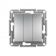 Трехклавишный выключатель Schneider Electric Asfora EPH2100161 (алюминий)