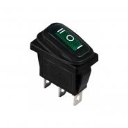Перемикач 1 клав. перекидний вологозахищений KCD3-103W GR/B АСКО