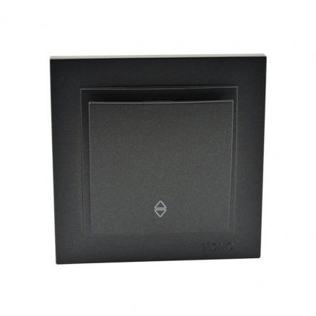 Выключатель 1 кл. проходной , Mono Electric, DESPINA ( графит ) - 1