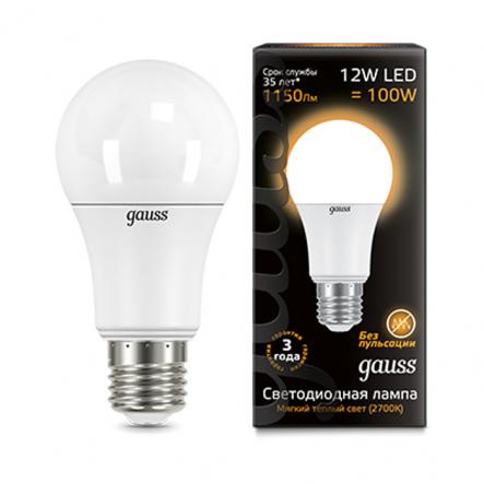 Лампа Gauss LED Black A60 12W E27 2700K - 1