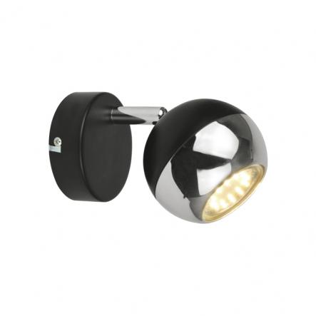 Бра черн-хром, 1х4W LED GU10 - 1