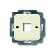 Центральная пластина для телефонной розетки слоновая кость