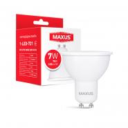 Лампа MAXUS 1-LED-721 MR16 7W 3000K 220V GU10
