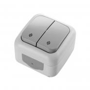 Выключатель 2кл серый проходной Palmiye ViKO