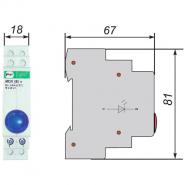 Сигнальная арматура модульная ЛСМ Промфактор ВК832 Г светодиодная голубая 220В