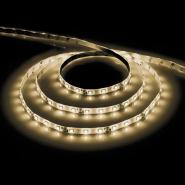 Лента светодиодная LS604/LED-RL 60SMD(3528)/m 4.8W/m 12V 5m*8*0.22mm  белый теплый на белом осн IP65