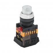 Кнопка  ABLFP-22 прозрачная d22мм неон/240В 1з+1р ИЭК