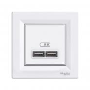 Розетка USB 2,1А  біла ASFORA