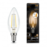 Лампа Gauss LED Filament Свеча E14 7W 550lm 2700К step dimmable