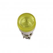 Светосигнальный индикатор IEK ENR-22 d22мм желтая неон 240В цил.