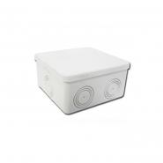 Коробка розподільча d100x100х50 сіра гладка