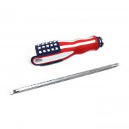 Отвертка-перевертыш прорезиненная ручка  AMERICAN (рифленный удл)