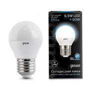 Лампа Gauss LED Black G45 6,5W E27 4100K