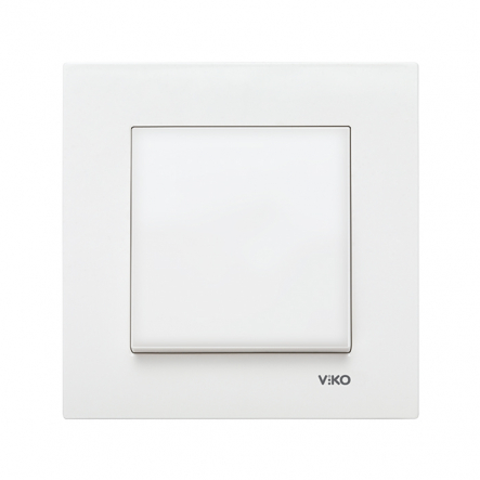 Выключатель одноклавишный белый KARRE VIKO - 1