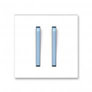 Клавиша двойная Neo белый/синий лед