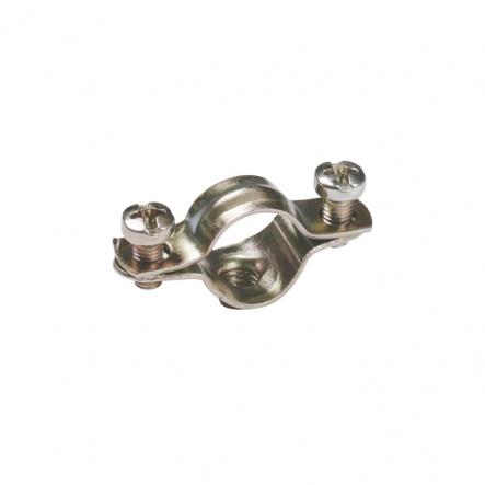 Скоба металлическая двухкомпонентная ИЕК d31-32мм - 1