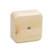 Коробка КМ41212-04 распаячна 75х75х20мм сосна (с конт.гр)