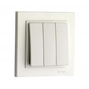 Выключатель 3 кл. Mono Electric, DESPINA (белый)