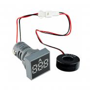 Амперметр цифровой ED16-22FAD 0-100A (белый) врезной монтаж