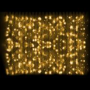 Гирлянда внешняя CURTAIN 2x3м 912LED желт/черн IP44
