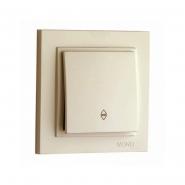 Выключатель  1 кл. проходной , Mono Electric, DESPINA ( крем )