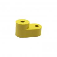 Изолятор угловой для нулевой шины  желтый ИЕК