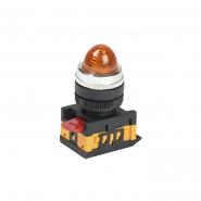 Светосигнальный индикатор IEK AL-22 d22мм желтая неон 240В цил.
