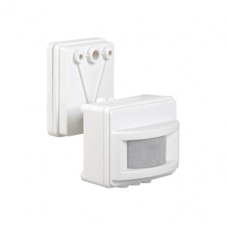 Датчик движения IEK ДД 017 белый 1100 Вт радиус 120град.,12м IP44 арт. LDD13-017-1100-001 - 1