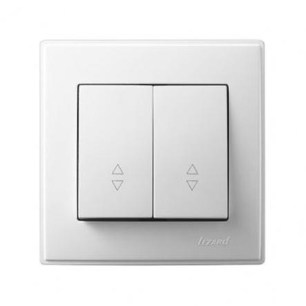 Выключатель проходной двухклавишный Lezard Lesya 10 А 250В белый 705-0202-106 - 1