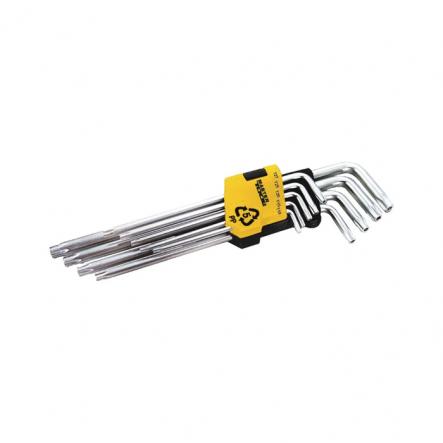 Ключи длинные, набор 9шт. Mastertool Torx T10-T50 L90-227мм - 1