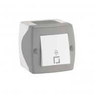 Выключатель проходной одноклавишный Mono Octans без подсветки 10 А 250В серый 104-020001-109