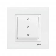Выключатель кнопочный для управления жалюзи  белый VIKO Серия KARRE