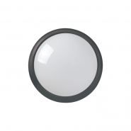 Светильник светодиодный ДПО 3031 12Вт 4500K IP54 круг пластик черный IEK