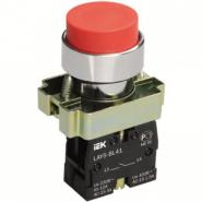 Кнопка управления LAY5-BL41 без подсветки красная 1з ИЕК